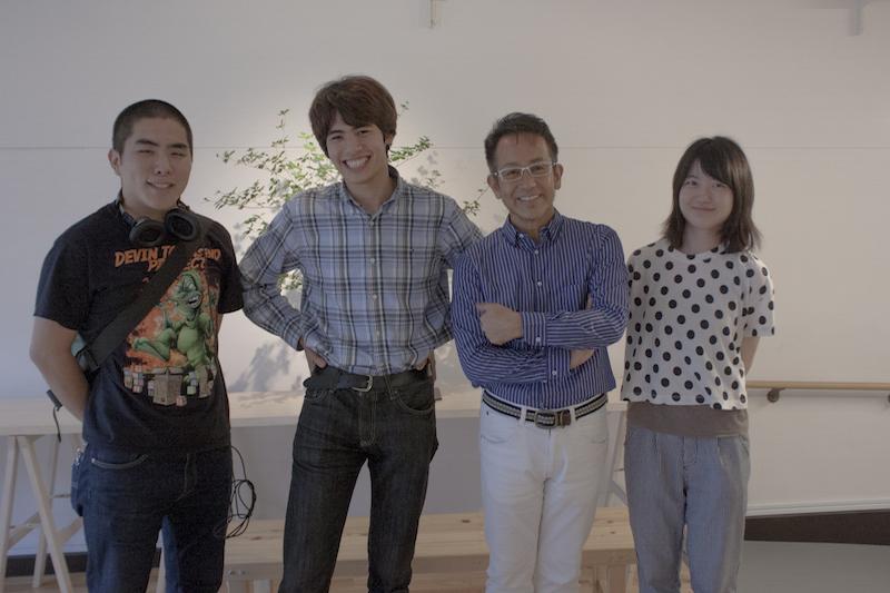 取材班全員、亜門さんにお会いできて感激しました!